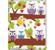 Funny owls on a branch iPad Case/Skin