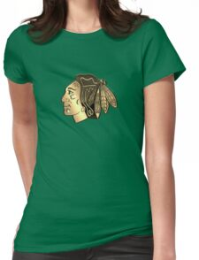 Chicago BlackHawks Cool logo Womens Fitted T-Shirt