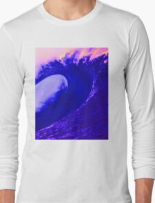 Abstract Wave Long Sleeve T-Shirt
