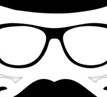 Little Man Hipster Mustache Disguise Design Sticker