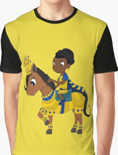 Princess and pony cartoon Graphic T-Shirt