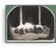 John Bauer – grandfather of scandinavian trolls Canvas Print