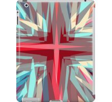 Religious cross starburst pattern iPad Case/Skin