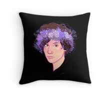 Ryan Flower Crown  Throw Pillow