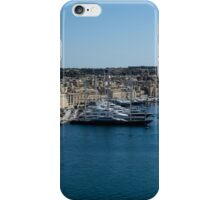 Postcard from Malta - Grand Harbour Superyachts iPhone Case/Skin