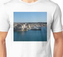 Postcard from Malta - Grand Harbour Superyachts Unisex T-Shirt