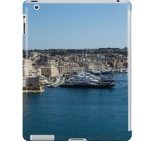 Postcard from Malta - Grand Harbour Superyachts iPad Case/Skin