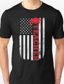 Teacher Flag Day Memorial T-shirt Unisex T-Shirt