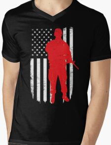 Army Soldier Flag Day Memorial T-shirt Mens V-Neck T-Shirt