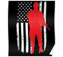 Army Soldier Flag Day Memorial T-shirt Poster