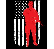 Army Soldier Flag Day Memorial T-shirt Photographic Print