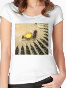 Fascinating Cactus Bloom - Soft and Fragile Among the Thorns Women's Fitted Scoop T-Shirt