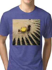 Fascinating Cactus Bloom - Soft and Fragile Among the Thorns Tri-blend T-Shirt
