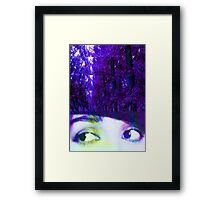 Eyes in the Forest Framed Print