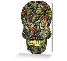 Coloured Skull Dia De Los Muertos Greeting Card