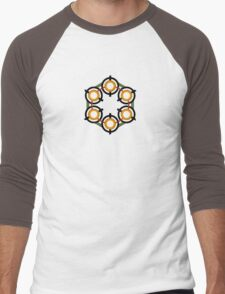 Erowid Logo Men's Baseball ¾ T-Shirt