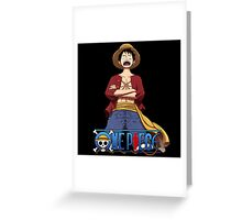 Luffy The Pirates stand up Greeting Card