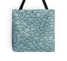 blue waves pattern, doodle hand draw pattern Tote Bag