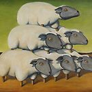 Sheep Stack by tank