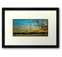 Bible Verse Matthew 7:13-14 Framed Print