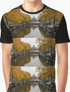 Autumn in Amsterdam - Colorful Symmetrical Stillness Graphic T-Shirt