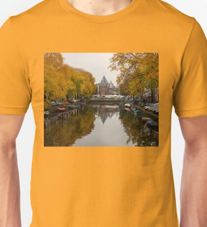 Autumn in Amsterdam - Colorful Symmetrical Stillness Unisex T-Shirt