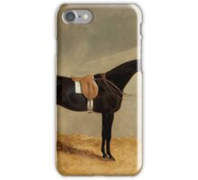 JOHN FREDERICK HERRING (SENIOR)  Miller - A Dark Bay Horse with Groom in Stable iPhone Case/Skin