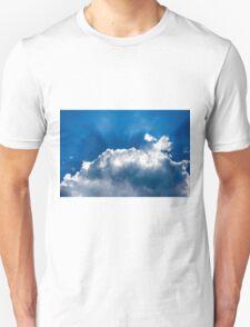 sun's rays behind the cloud Unisex T-Shirt
