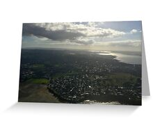 New Zealand - Approaching Auckland Greeting Card