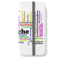 Hipster Mustache Word Cloud Collage iPhone Wallet/Case/Skin