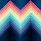 Retro Chevrons 002 by geekchic  tees