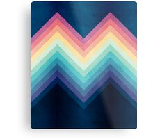 Retro Chevrons 002 Metal Print