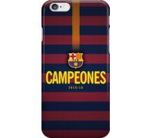 Barcelona Campeones iPhone Case/Skin
