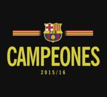 Barcelona Campeones Kids Tee