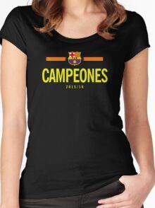 Barcelona Campeones Women's Fitted Scoop T-Shirt