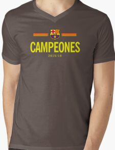Barcelona Campeones Mens V-Neck T-Shirt