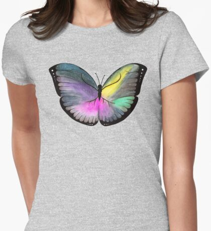 Space Butterfly Womens Fitted T-Shirt