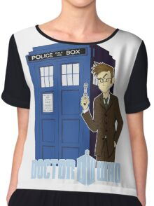 Dr Who Animated (no background) Chiffon Top