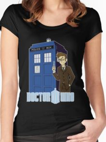 Dr Who Animated (no background) Women's Fitted Scoop T-Shirt
