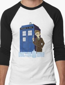 Dr Who Animated (no background) Men's Baseball ¾ T-Shirt