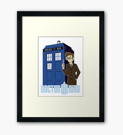 Dr Who Animated (no background) Framed Print