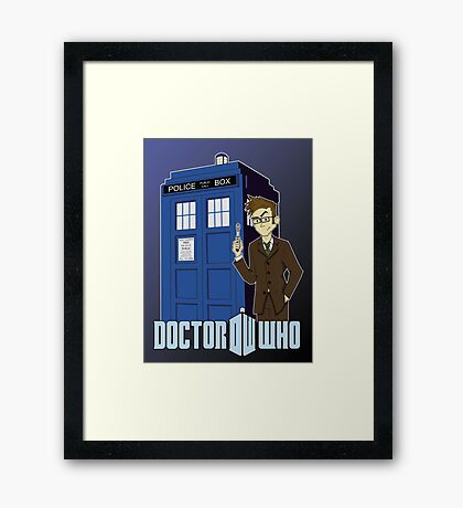 Doctor Who Animated Framed Print