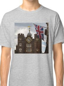 British Symbols and Landmarks - Union Jack and the Pearly Clock Classic T-Shirt