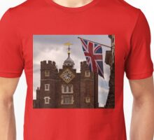 British Symbols and Landmarks - Union Jack and the Pearly Clock Unisex T-Shirt