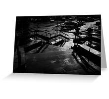 city street after rain Greeting Card