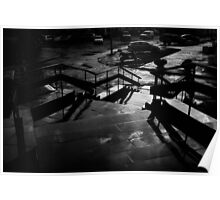 city street after rain Poster