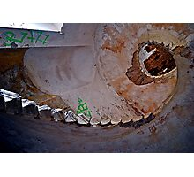 Spiral staircase in asylum Photographic Print