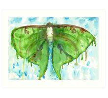Watercolor Luna Moth Art Print