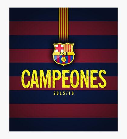 Barcelona Campeones Photographic Print