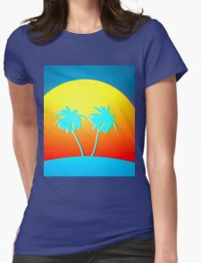 Psychedelic Palms Womens Fitted T-Shirt